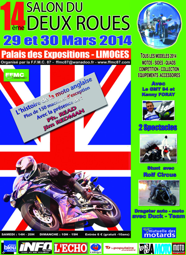 Salon de la moto 2014 limoges for Salon limoges